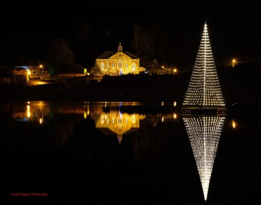 Ireland's largest floating Christmas Tree
